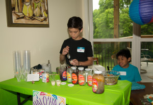Christian making Halo-Halo-