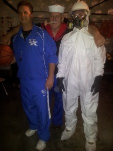 Coach Calipari, Popeye and Hazmat guy