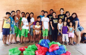 GoAbroad Foundation Team at Christmas Grocery Distribution in Cangumbang
